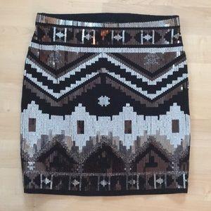 Express sequin skirt 🖤